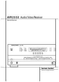 Manual de serviço HarmanKardon AVR 2550