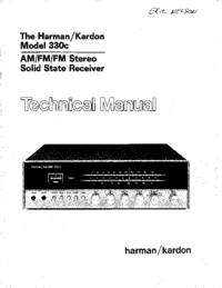 Руководство по техническому обслуживанию HarmanKardon 330C