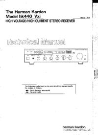 Manual de servicio HarmanKardon hk440 Vxi