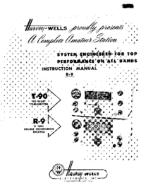 Service and User Manual Harvwels R-9