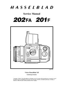 Manual de servicio Hasselblad 202FA
