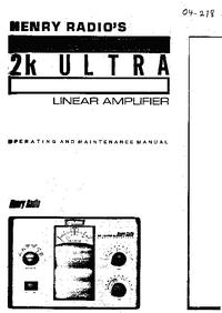 Serwis i User Manual Henry 2K Ultra