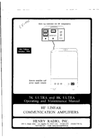 Service and User Manual Henry 3K Ultra