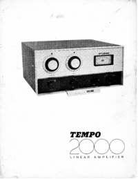 Service and User Manual Henry Tempo 2000