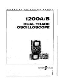 Service and User Manual HewlettPackard 1200B