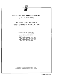 Servicio y Manual del usuario HewlettPackard 334A