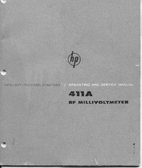 Service and User Manual HewlettPackard 411A