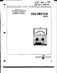 Serwis i User Manual HewlettPackard 427A