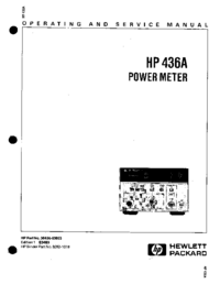 Service and User Manual HewlettPackard 436A
