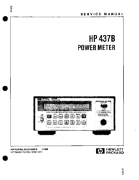 Service Manual HewlettPackard 437B
