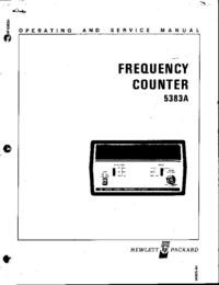 Serviço e Manual do Usuário HewlettPackard 5383A