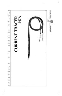 Servizio e manuale utente HewlettPackard 547A