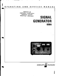 Servicio y Manual del usuario HewlettPackard 606A