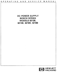 Servicio y Manual del usuario HewlettPackard 6216B