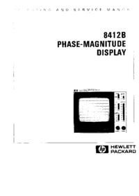 Servicio y Manual del usuario HewlettPackard 8412B