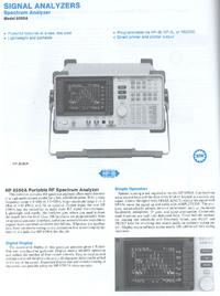 Dane techniczne HewlettPackard 8590A