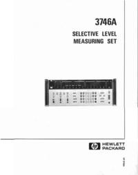 Manuale di servizio HewlettPackard 3746A
