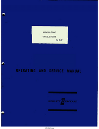 Serwis i User Manual HewlettPackard 204C