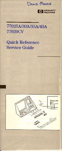 Service Manual HewlettPackard 77040A
