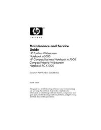 Servicehandboek HewlettPackard Pavilion zt3000