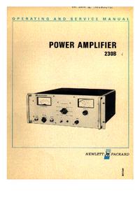 Servicio y Manual del usuario HewlettPackard 230B