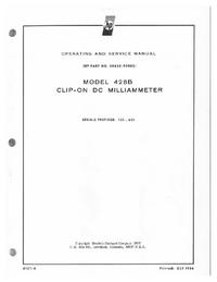 Service and User Manual HewlettPackard 428B