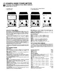 Datasheet HewlettPackard 8477A