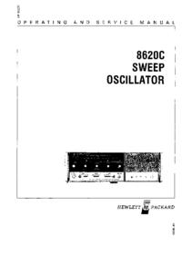 Servicio y Manual del usuario HewlettPackard 8620C