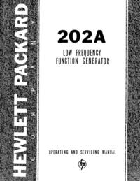 Service- und Bedienungsanleitung HewlettPackard 202A