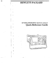Gebruikershandleiding HewlettPackard 8563A