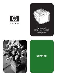 Service Manual HewlettPackard LaserJet 1010
