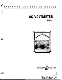 Manuale di servizio HewlettPackard 400GL