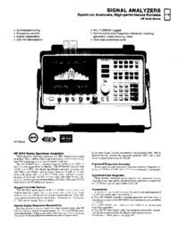 Gegevensblad HewlettPackard HP 8561B