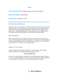 Service Manual HewlettPackard HP 5334B