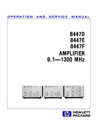 Servizio e manuale utente HewlettPackard 8447D