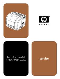 Manual de servicio HewlettPackard 1500