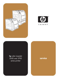 Manual de servicio HewlettPackard color LaserJet 3500