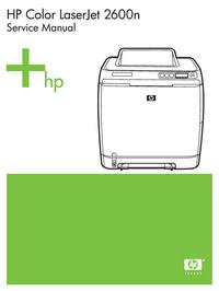 Serviceanleitung HewlettPackard Color LaserJet 2600N