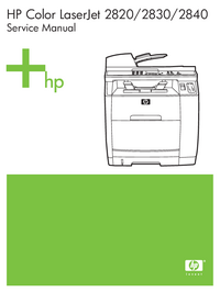 Manual de serviço HewlettPackard Color LaserJet 2820 all-in-one