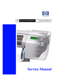 Service Manual HewlettPackard DesignJet 800PS