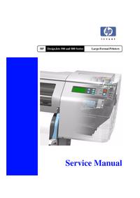 manuel de réparation HewlettPackard DesignJet 500PS