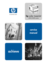 Service Manual HewlettPackard Color LaserJet 4550DN