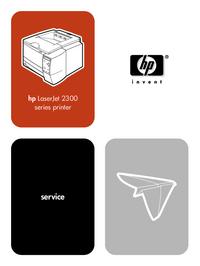 Service Manual HewlettPackard LaserJet 2300