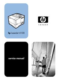 Service Manual HewlettPackard LaserJet 4100TN (C8051A)