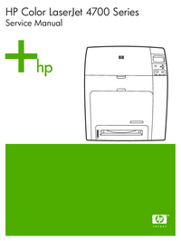 Manual de servicio HewlettPackard Color LaserJet 4700 series