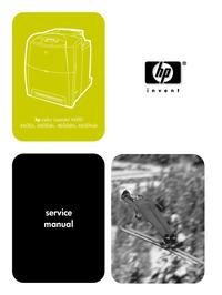Manuale di servizio HewlettPackard color LaserJet 4600dtn