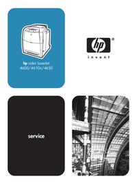 Serviceanleitung HewlettPackard color LaserJet 4610n