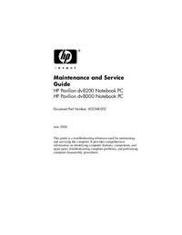 Service Manual HewlettPackard Pavilion dv8000