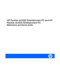 Manual de servicio HewlettPackard Pavilion dv3500