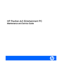 Manual de servicio HewlettPackard Pavilion dv3